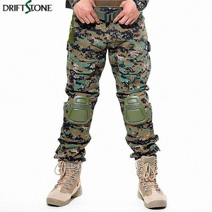 Image 2 - Camouflage Military Tactical Pants Army Military Uniform Trousers Airsoft Paintball Combat Cargo Pants With Knee Pads