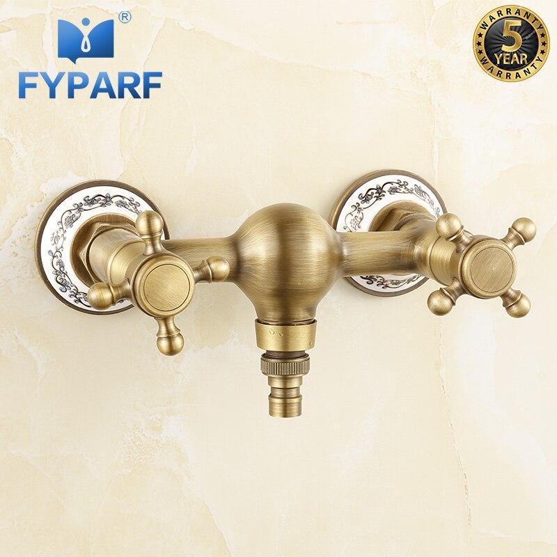 FYPARF cascade robinet mural évier d'eau robinet extérieur Antique lave-linge robinet Vintage Style robinet torneira de parede