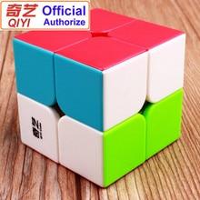 Garanzia QIYI 2x2 Speed Magic Cube Stickerless 2x2x2 Cubo Magico Puzzle giocattoli educativi per bambini regalo per bambini