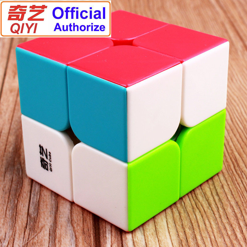 QIYI Warrant 2x2 Speed Magic Cube Stickerless 2x2x2 Cubo Magico Puzzle Educational Toys For Children Kids Gift