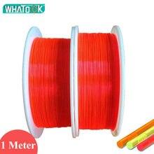 Câble Led en plastique pour lampes à Fiber optique, 1M, Fluorescence flexible, 1.5mm, 1.0mm, 0.75mm, 0.5mm, mm, Nano Fiber optique pour éclairage de vue d'arme à feu