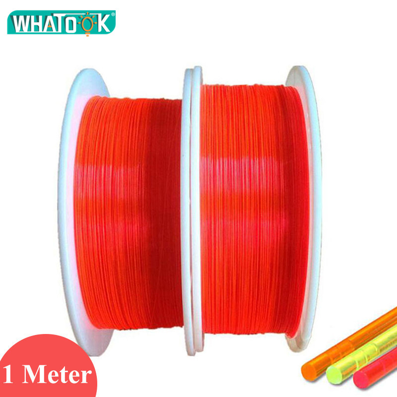 1M Glasvezel Verlichting Plastic Led Kabel Fluorescentie Flex 1.5mm 1.0mm 0.75mm 0.5mm Nano Optische fibre voor Gun Boog Zicht Verlichting