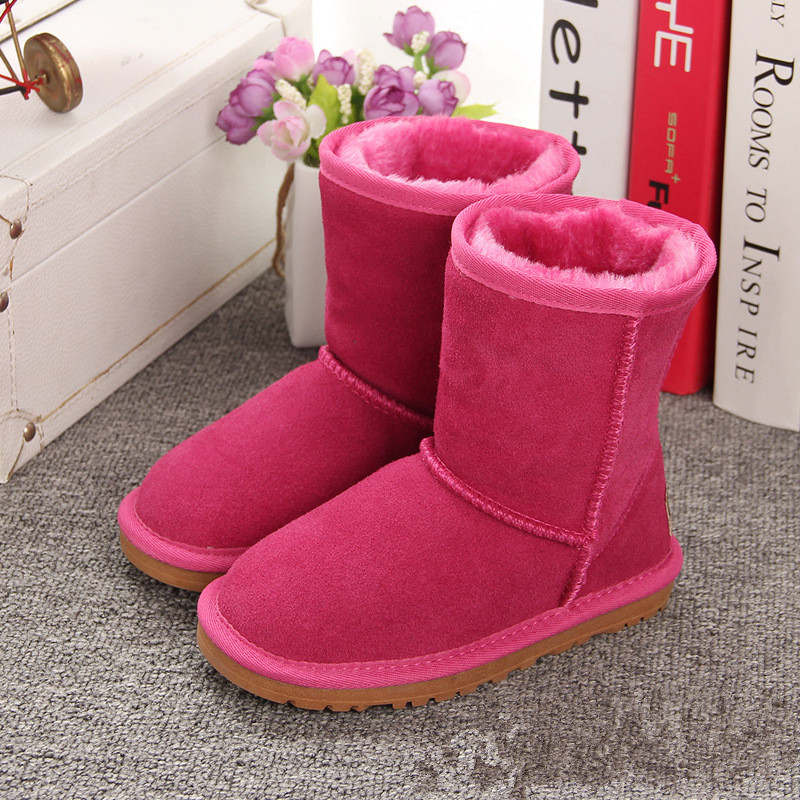 купить Australia Brand Girls Snow Boots Children Shoes Boys Girls Snow Boots Kids Winter Shoes Warm Plush Mid-calf Toddler Girl Boots онлайн