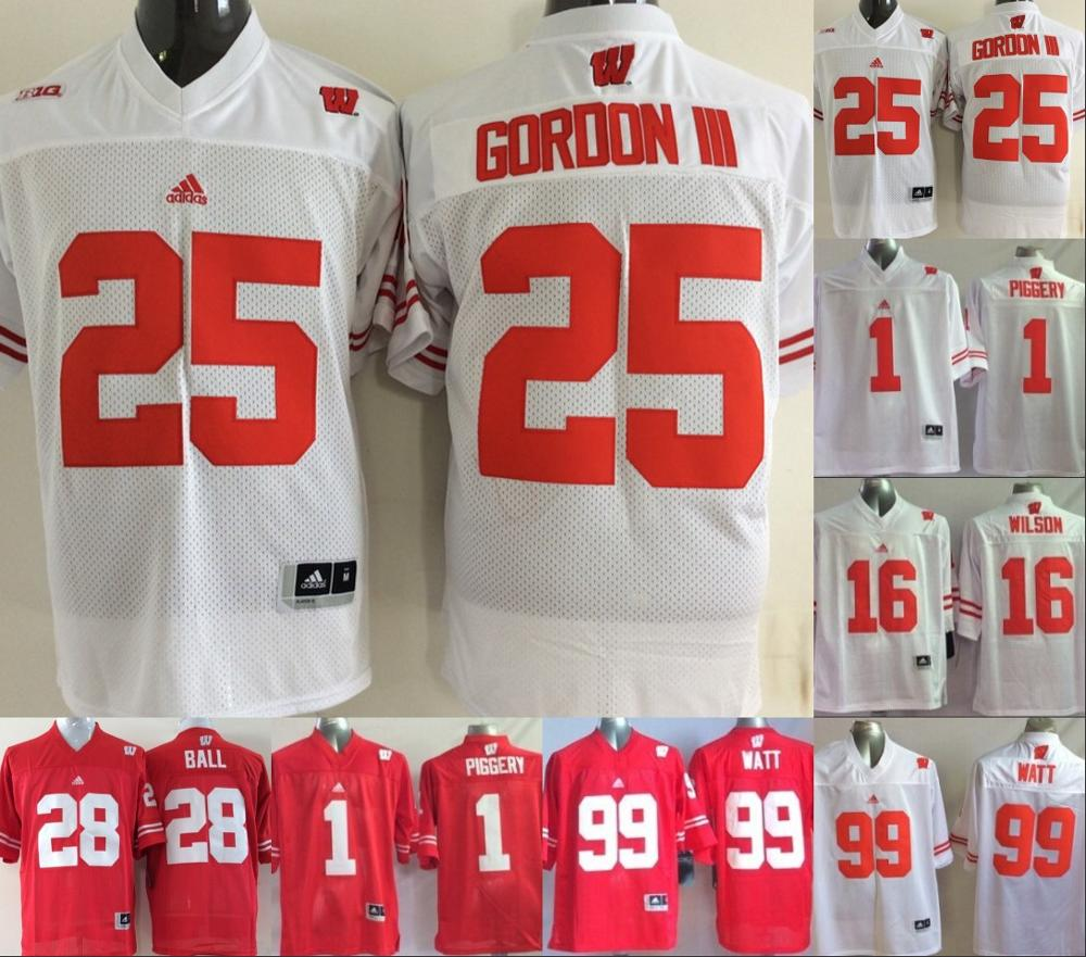 wholesale dealer 6790e 2b2b2 wisconsin badgers 16 russell wilson red under armour ...