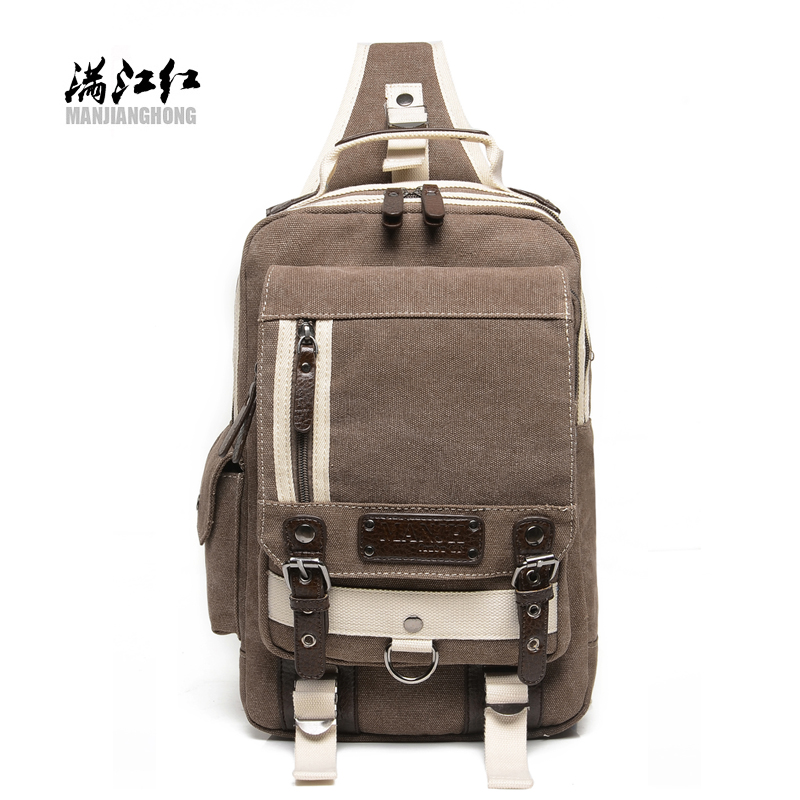 BUY AO fashion patchwork high hipster canvas crossbody men's chest travel bag casual messenger bags knapsacks