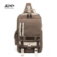BUY AO Fashion Patchwork High Hipster Canvas Sports Outdoor Crossbody Men S Chest Travel Bag Casual
