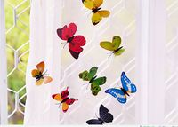 100pcs Lot Simulation Butterfly 5cm Home Decoration Buterfly Wall Stickers Home Decal Magnet Crafts Holiday Decoration