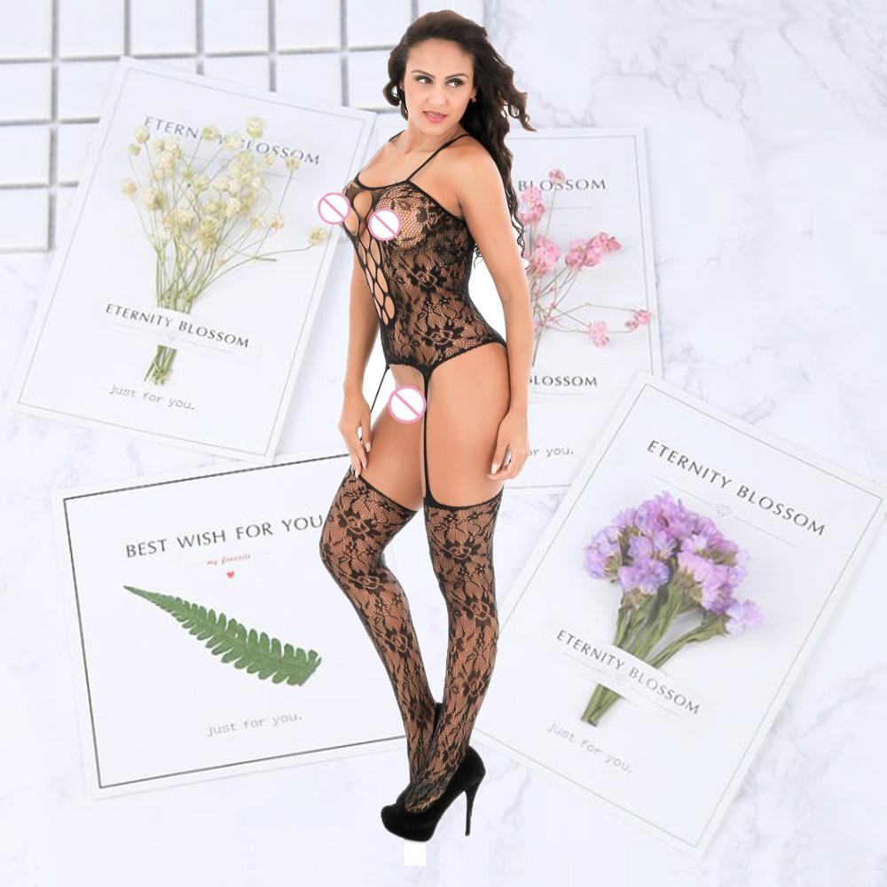 dominatrixs lingerie sexy hot erotic apparel female fish net strong elasticity sexy women bodystocking lingerie erotic bodysuit in Teddies Bodysuits from Novelty Special Use