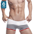 Elastic Men's boxer shorts Cotton Mens Underwears Boxers Bulge Male Underpants Sexy Navy Striped Underwear Soft Homme Cueca Men