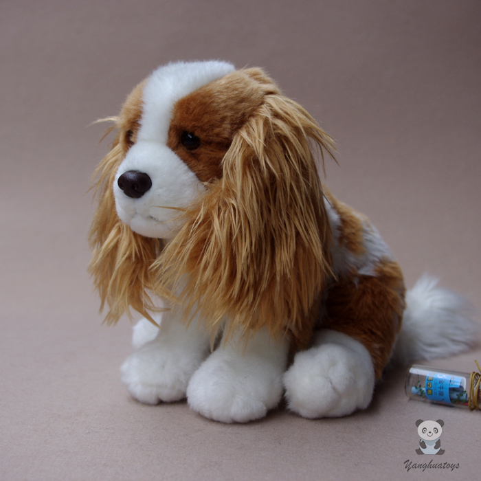 Cute Cavalier King Charles Spaniel Simulation Animal Dog Doll Accessories Baby Toy Pillow Plush Toys Gift For Women 90cm soft feather cotton dog doll dog plush toy sleeping pillow stuffed toy cute cartoon animal doll toys gifts for birthday