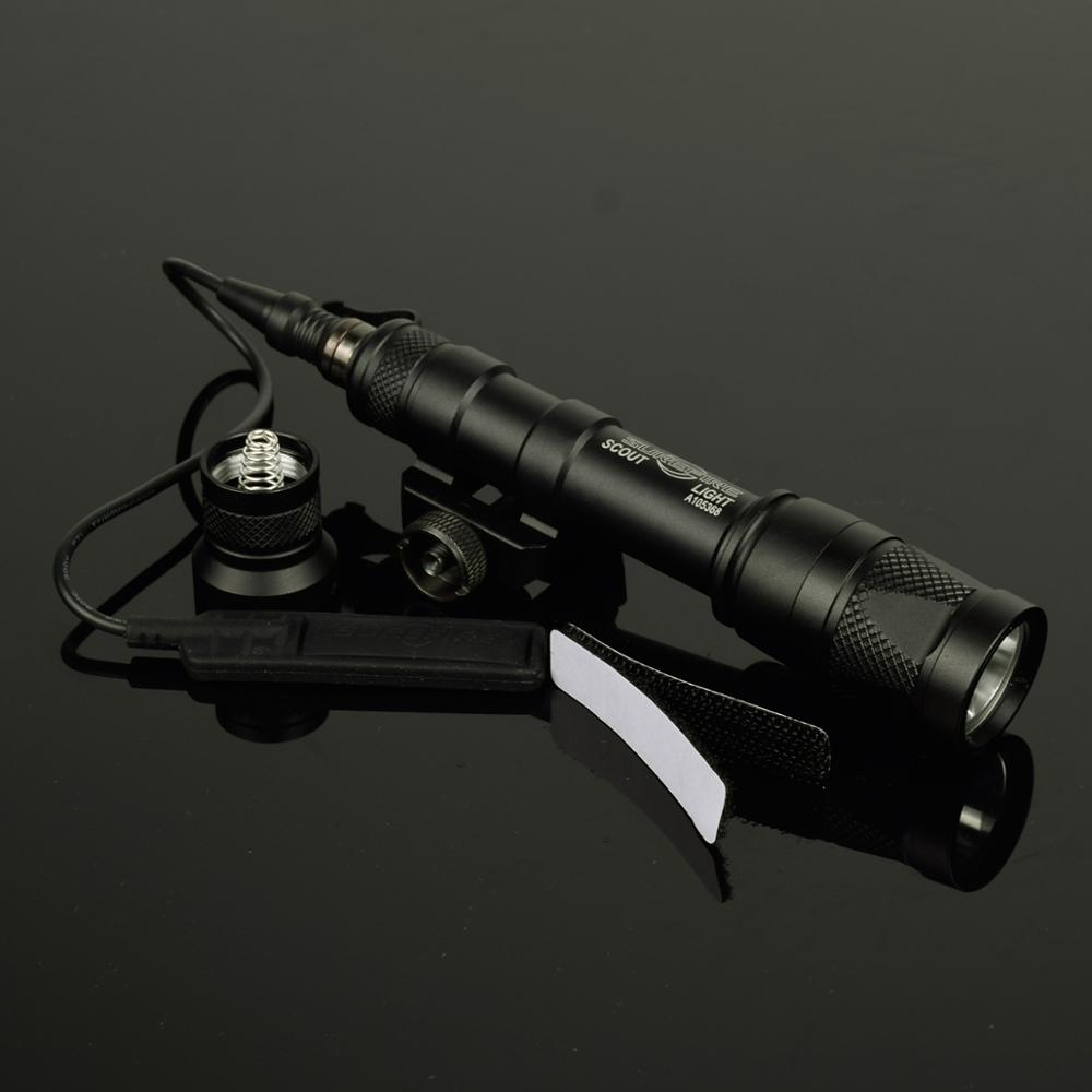 LAMBUL M600 M600V Scout Light Hunting Strobe Flashlight Pistol Gun Weapon light lantrena For 20mm Weaver