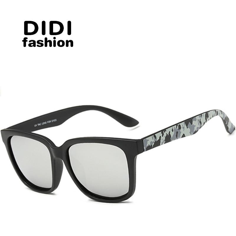 didi korean polarized titanium sunglasses unisex camouflage tactical sun glasses black goggles wide thick frame