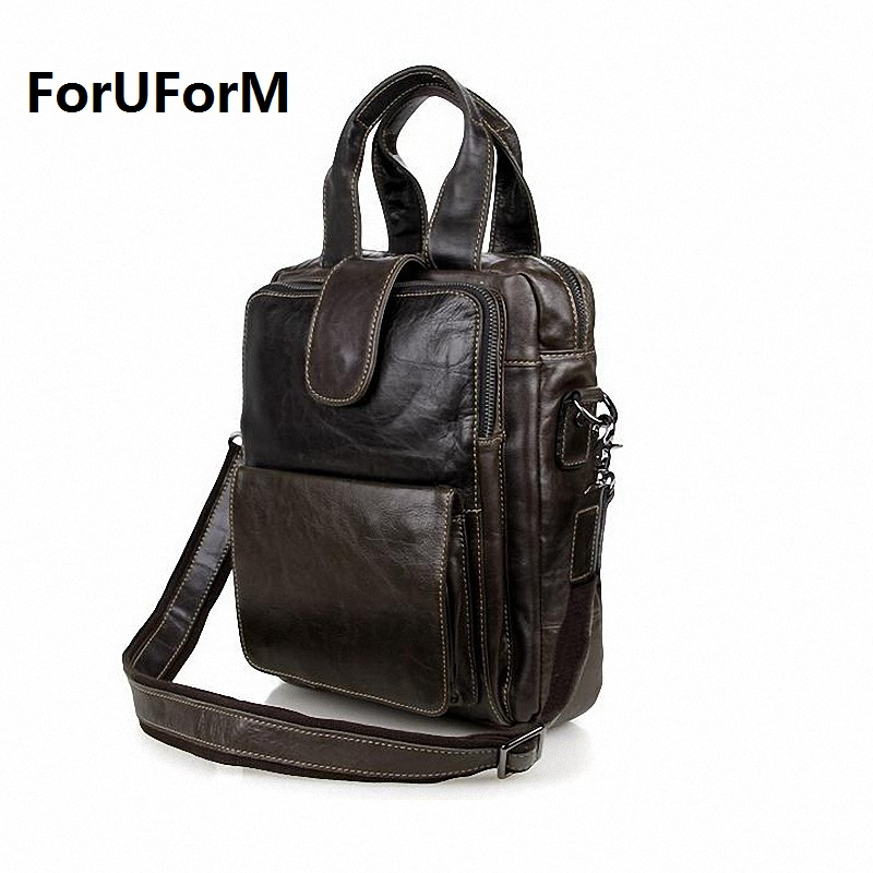 Quality Genuine Leather Men Messenger Bags Casual Business Crossbody Bag Crazy Horse Leather Shoulder Bags Free Shipping LI-898 free shipping dbaihuk golf clothing bags shoes bag double shoulder men s golf apparel bag