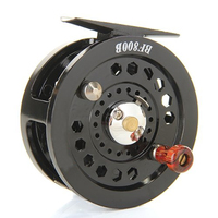 8 Pack Black Nylon Reel Fly For Fishing Wire Reel For Fisherman