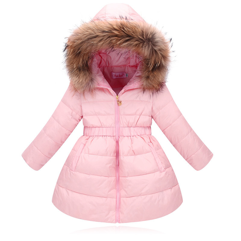 2017 Fashion Winter Coats Parka Girls Winter Down Jackets For Girl Children Warm Baby Thick Duck Down Kids Outerwears fashion boys down jackets coats for winter warm 2017 baby boy thick duck down coat real fur children outerwears for cold winter