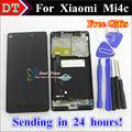 Piezas de reparación de alta calidad para xiaomi 4c mi4c m4c lcd Display + Touch Screen Reemplazo Digitalizador Teléfono de Color Negro Con marco
