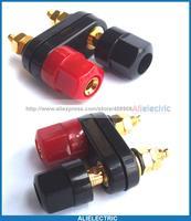 20 stück Doppel Vergoldet Binding Post für 4mm Bananenstecker Leistungsverstärker Lautsprecher