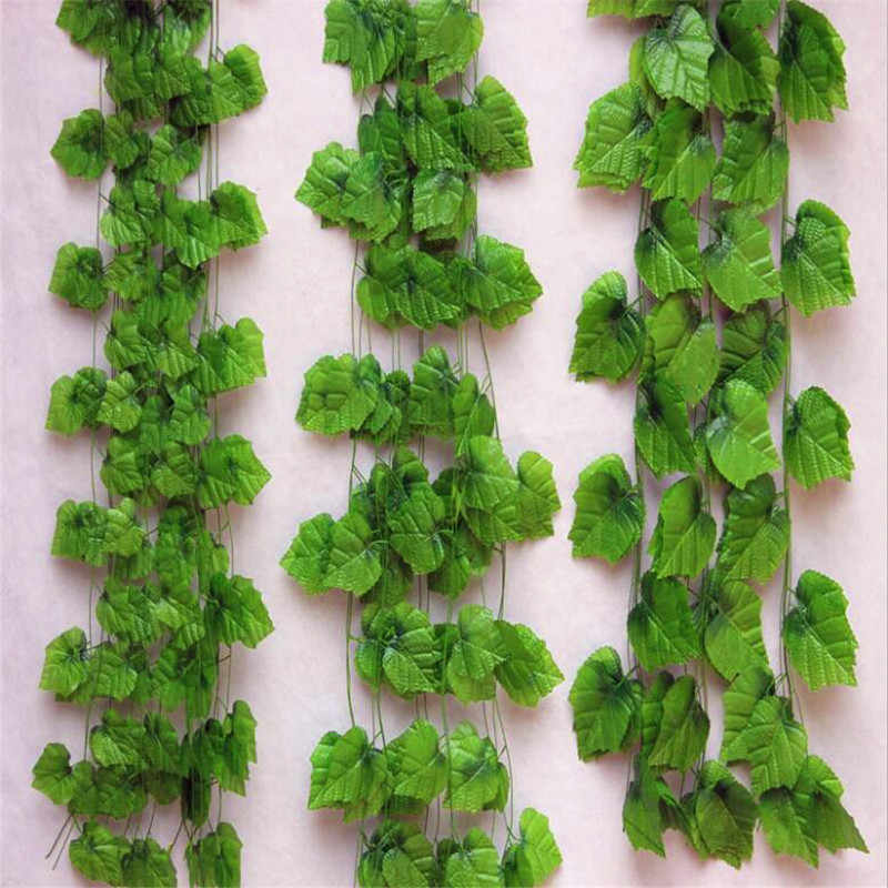 Artificial Green Ivy Leaves 250cm Long Artificial Plants Grape Vine Fake Foliage Leaves Home Wedding Decoration