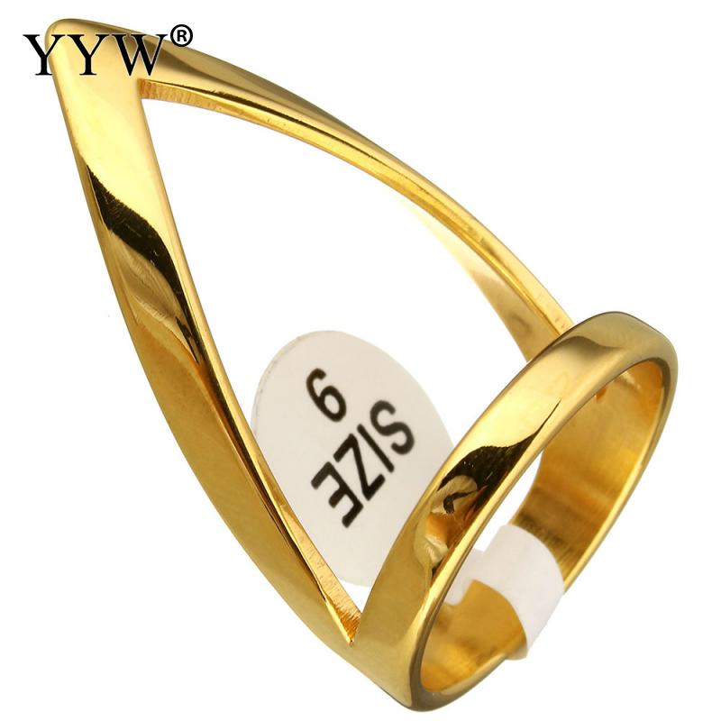 New Arrival Men Women Ring Gold Elegant Cool Ring Men Golden Rings Fashion Jewelry Anillos Bar Club One Ring For Wedding Gift