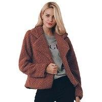 Faux Fur Coat Women Brown Black Flurry Jacket Women Plus Size Fashions Shaggy Coat Soft Warm Winter Fur Coats Femme