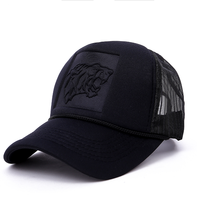 2017 new Hip Hop Black leopard Print Curved Baseball Caps Summer Mesh Snapback Hats For Women Men casquette Trucker Cap 2016 new new embroidered hold onto your friends casquette polos baseball cap strapback black white pink for men women cap
