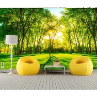 Latest Natural Beautiful Forest Wall Paper 2016 3D Modern Art Abstract Wall Mural Paper For Living Room Bedroom TV Background #7
