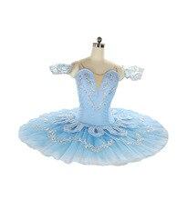 زي كهربائي أزرق على شكل طائر فطائر مزركش توتو للبالغين كلاسيكي لمسابقات الباليه توتو فستان احترافي للرقص البالية للفتيات