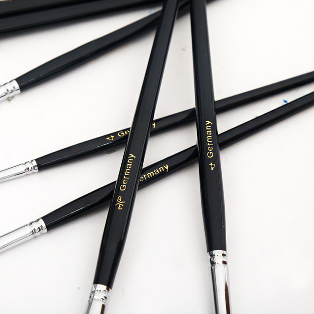12Pcs Watercolor Paint Brushes Set Nylon Hair Painting Brush Variety Style Short Rod Oil Acrylic Painting Brush Pen Art Supplies 4