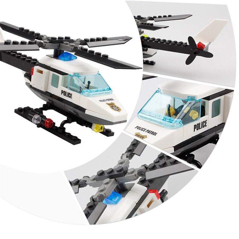 KAZI policijski helikopter 102pcs građevinski blokovi cigle montaža - Izgradnja igračke - Foto 3