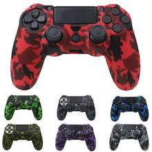 Waterproof Game Skull Rubber Skin Silicone Cover Case For Sony PS4 Slim Pro Controller Wireless Silicone Case(China)