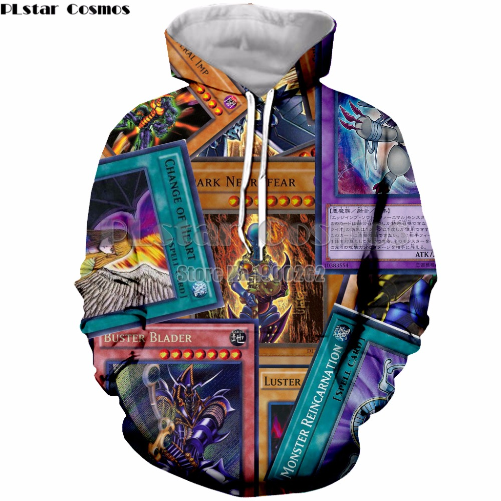 Nice Latest Funny Cartoon Yu Gi Oh Fashion 3d Hoodies Pullovers Men Women Hoodie Hoody Tops Long Sleeve 3d Hooded Sweatshirts Clothes Pretty And Colorful Men's Clothing