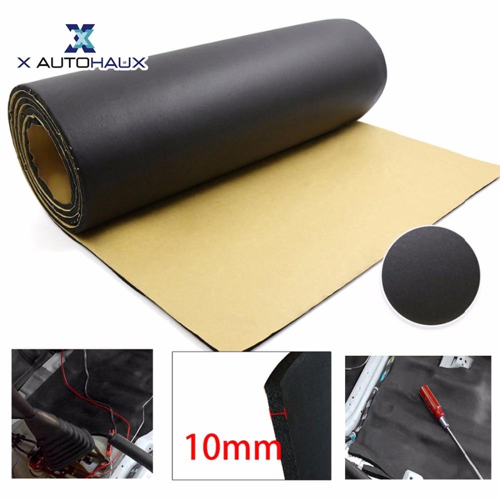 X AUTOHAUX 10mm Thick 200cm 50cm 394mil 79 x 20 Foam Cotton Car Floor Tailgate Reduction