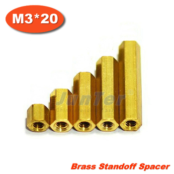 500pcs/lot Brass Standoff Spacer M3 Female x M3 Female 20mm