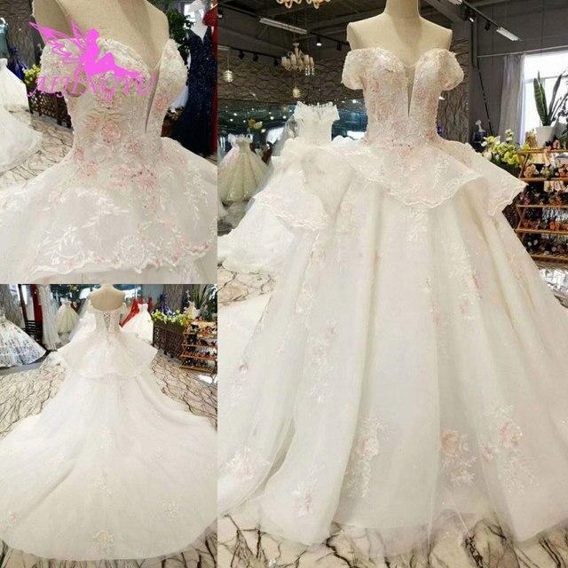 AIJINGYU Hochzeit Kleider Schweden Rustikalen Kleid Preise Auf Plus Größe Rabatt Kleider Plus Größe Hochzeit Kleid Mit Zug