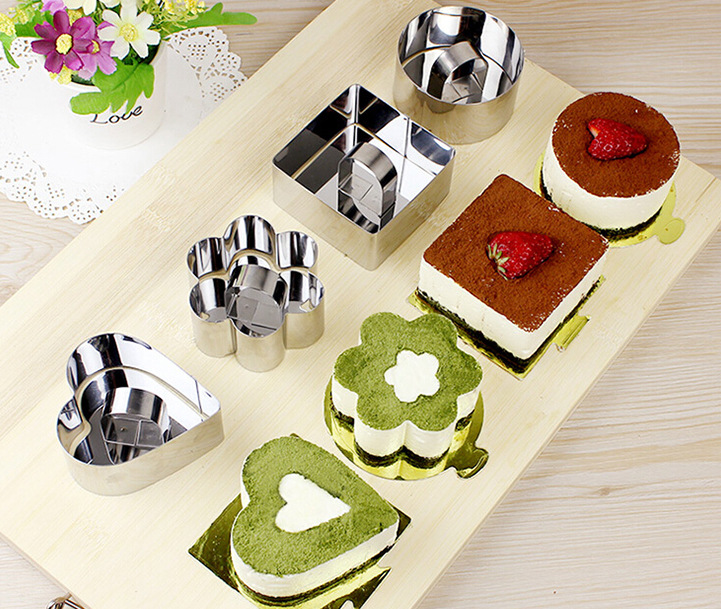 Pastry Round Square Heart Flower Forms For Cheese Pan ...