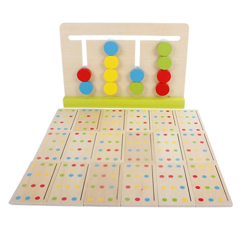 Montessori Education Jouets en bois Jeu de quatre couleurs - Concepteurs et jouets de construction - Photo 5