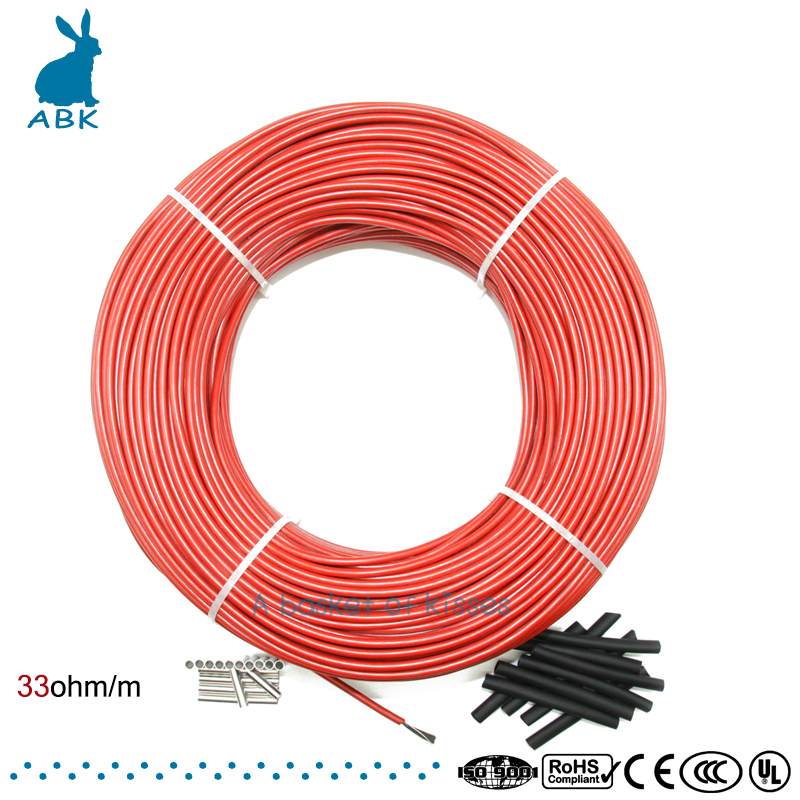 100m infrared carbon fiber heating wire heating cable system 12K 33ohm European heating equipment safe and tasteless100m infrared carbon fiber heating wire heating cable system 12K 33ohm European heating equipment safe and tasteless