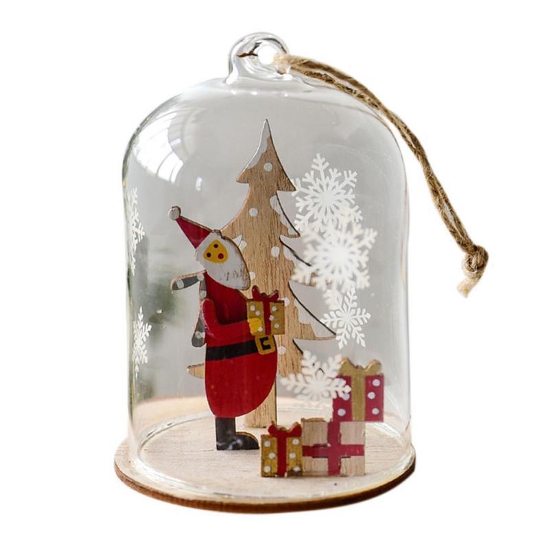 christmas ball ornament clear glass bauble xmas decoration pendant wedding diy glass ball christmas decoration pendant