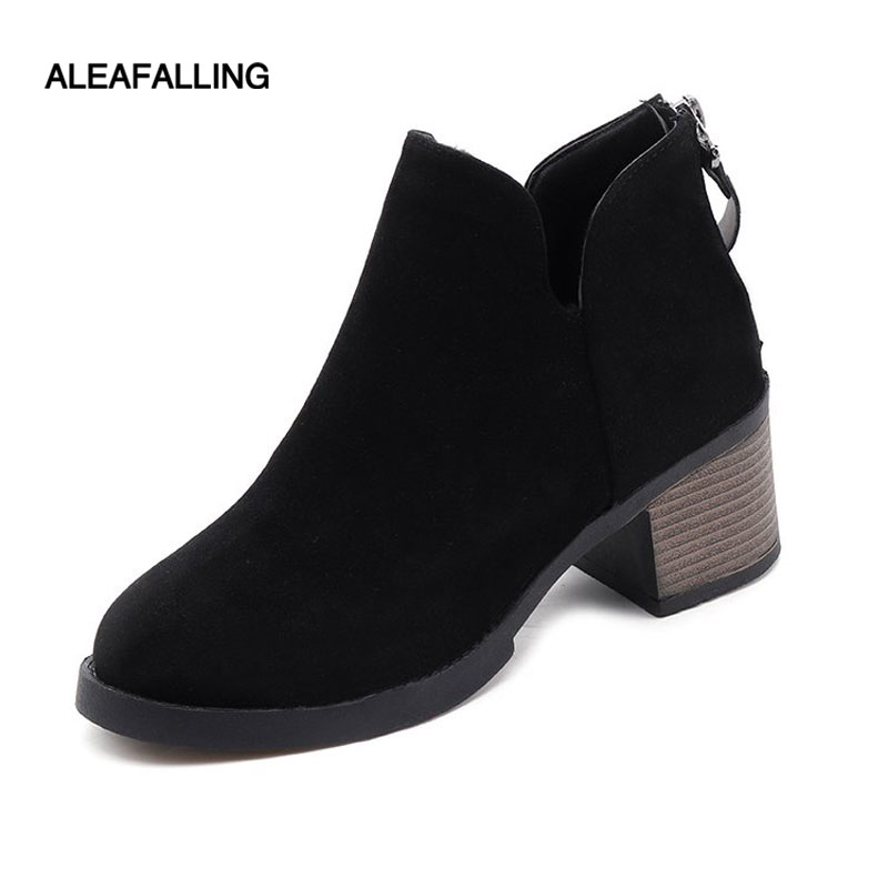 Aleafalling Women Boots Zip Open Cute Simple Smart Fashion Shoes Girl's Soft Shinny Leather For Spring Autumn Boots WBT126