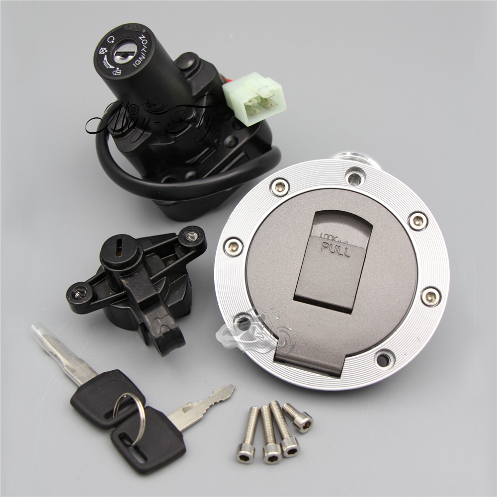 New Ignition Switch Gas Cap Cover Seat Lock Key Set Fits Yamaha XJR400 XJR1200 XJR1300 Motorcycle