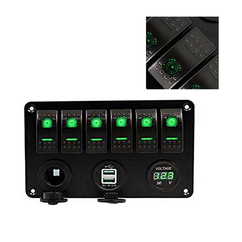 Dual USB Port Power Socket Charger Adapter /& Voltmeter CAR CAMPER CARAVAN MARINE