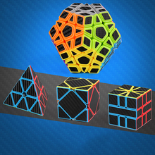 Carbon Fiber Sticker Series Magic Cube Pyraminx Megaminx Skew SQ1 Educational Toys for Children Puzzle Toy Adults
