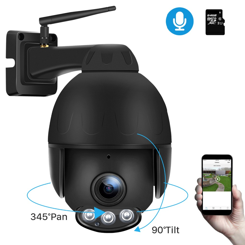 BESDER 2MP Wireless IP Camera 1080P SD Card 128G 5X Optical Zoom wifi IR Camera PTZ Camera Outdoor Waterproof IP camara Onvif