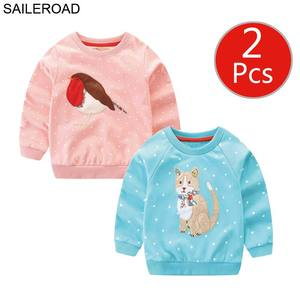 Image 5 - SAILEROAD 2 Động Vật Cô Gái Áo Giáng Sinh Hươu Trẻ Em Áo Khoác Mùa Thu Bé Nhỏ của Quần Áo Cotton Áo 7 Năm