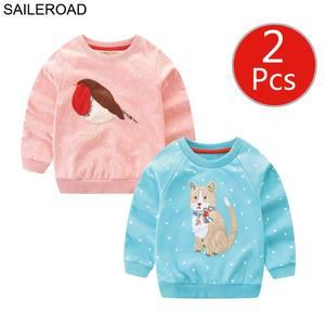 Image 5 - SAILEROAD 2 pcs สัตว์สาวเสื้อกันหนาวคริสต์มาสกวางเด็ก Hoodies ฤดูใบไม้ร่วงเด็กเล็กๆผ้าฝ้ายเสื้อกันหนาวเด็ก 7 ปี