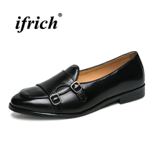 Men Shoes Luxury Brand Leather Retro Black Loafers Flat Spring Summer Driving for Male Anti-slip Light