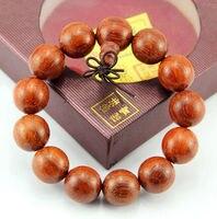 18 mm Vietnam lobulaire rouges perles de bois de santal bouddhisme tibétain Bracelet