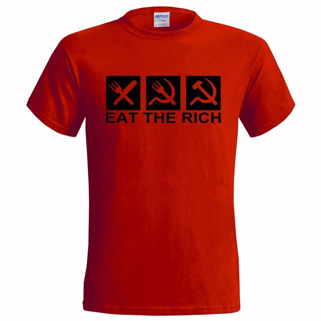 3cd288c6af3 EAT THE RICH LOGO MENS T SHIRT COMMUNIST COMMUNISM ANTI CAPITALIST  CAPITALISM