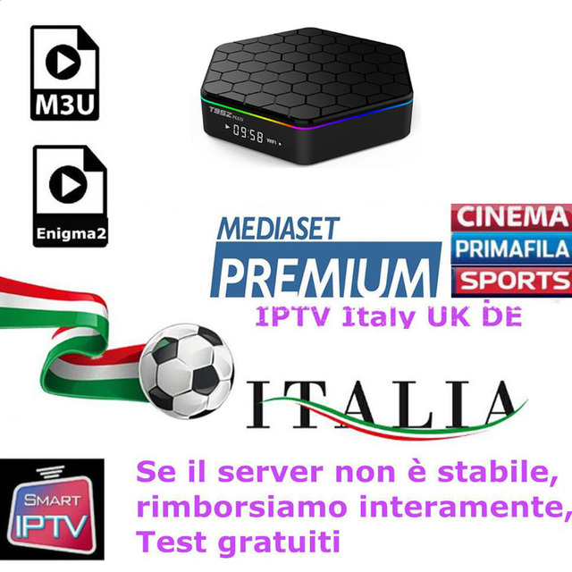 US $12 0 |Europe IPTV M3U Enigma2 IPTV Italy UK Germany Belgium Albania  Spanish TV Channels Mediaset Premium For Android Box Smart TV-in Set-top  Boxes