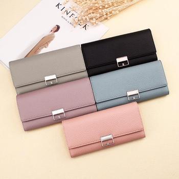 新しい女性の革財布とバッグロング PU 女性財布